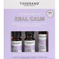 Real Calm Discovery Kit - Zestaw olejków eterycznych na wyciszenie (2 x 9 ml, 1 x 10 ml) Tisserand