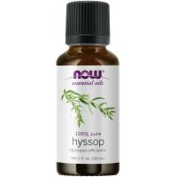 100% Hyssop - Olejek Hyzopowy - Hyssopus officinalis (30 ml) NOW Foods