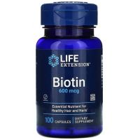 Witamina H - Biotyna 600 mcg (100 kaps.) Life Extension