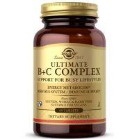 Ultimate B + C Complex - Kompleks Witamin z grupy B + Witamina C (60 tabl.) Solgar