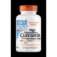 Curcumin C3 Complex with Bioperine - Kurkuma 500 mg + Piperyna 3 mg (120 kaps.) Doctor's Best
