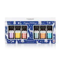 Pakiet olejków eterycznych Happy Holidays w świątecznym opakowaniu (6 x 9 ml) Tisserand