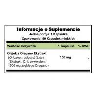 Oil of Oregano - Olejek z Oregano 1500 mg (90 kaps.) Puritan's Pride