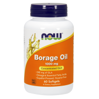 Borage Oil - Olej z Ogórecznika 1000 mg (60 kaps.) Now Foods