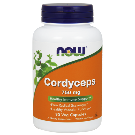 Cordyceps 750 mg (90 kaps.) Now Foods