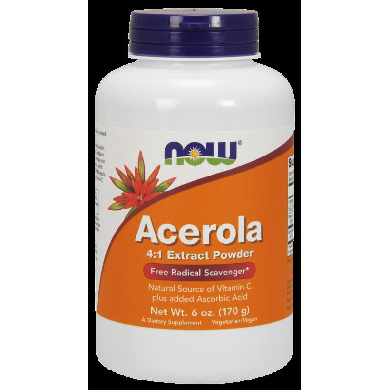 Acerola - Naturalna Witamina C (170 g) Now Foods