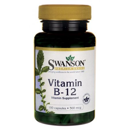 Witamina B12 500 mcg (100 kaps.) Swanson