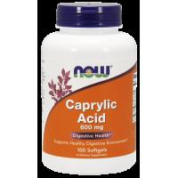 Kwas Kaprylowy 600 mg (100 kaps.) Now Foods