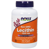 Lecytyna 1200 mg non GMO (100 kaps.) NOW Foods