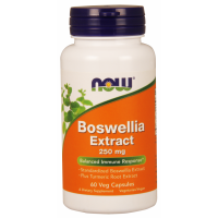 Boswellia 250 mg ekstrakt z Kurkumą (60 kaps.) Now Foods