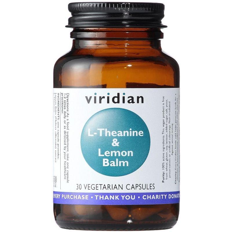 L-Theanine and Lemon Balm - L-Teanina i Melisa (30 kaps.) Viridian