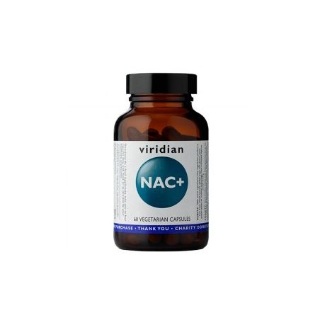 NAC plus - NAC - N-Acetylo-L-Cysteina + L-Glutamina + Chrom + Cynamon (60 kaps.) Viridian