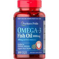 Omega 3 - Olej z Ryb 1000 mg (100 kaps.) Puritan's Pride