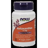 Naturalna Astaksantyna 4 mg (60 kaps.) Now Foods
