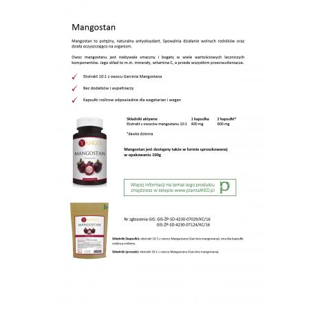 Karta produktu: Mangostan - ekstrakt 10:1 (100 g) Yango