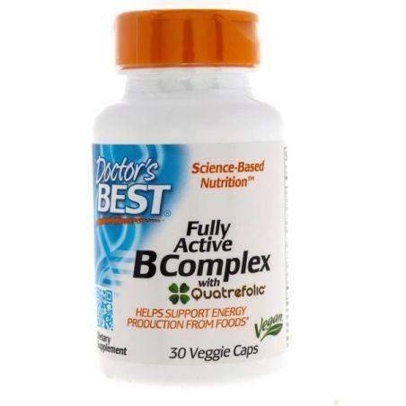 Kompleks Wit. z grupy B + Folian 5-MTHF 400 mcg - Fully Active B Complex (30 kaps.) Doctor's Best