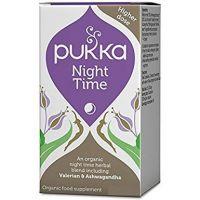 BIO Night Time - Kompleks ziół z Walerianą i Ashwagandhą - Nocny Spokój (30 kaps.) Pukka