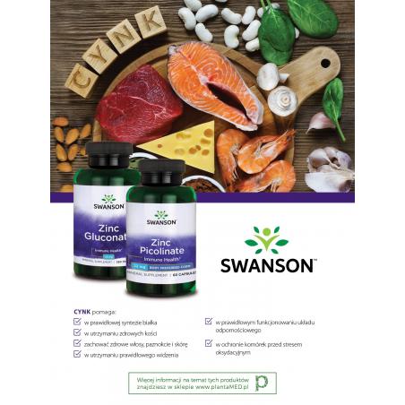 666452153982 Zinc Picolinate - Pikolinian Cynku 22 mg (60 kaps.) Swanson