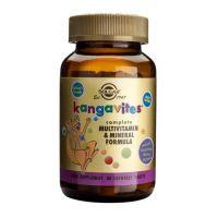 Kanguwity do ssania (Kangavites) zestaw Witamin i Minerałów (smak soczyste jagody) (60 tabl.) Solgar