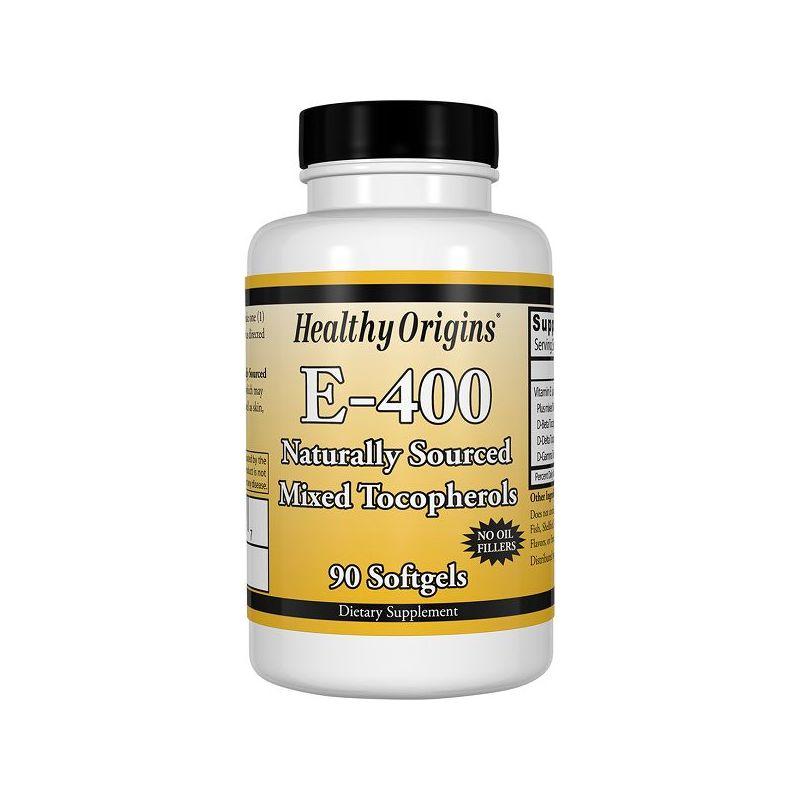 Witamina E-400 (90 kaps.) Healthy Origins