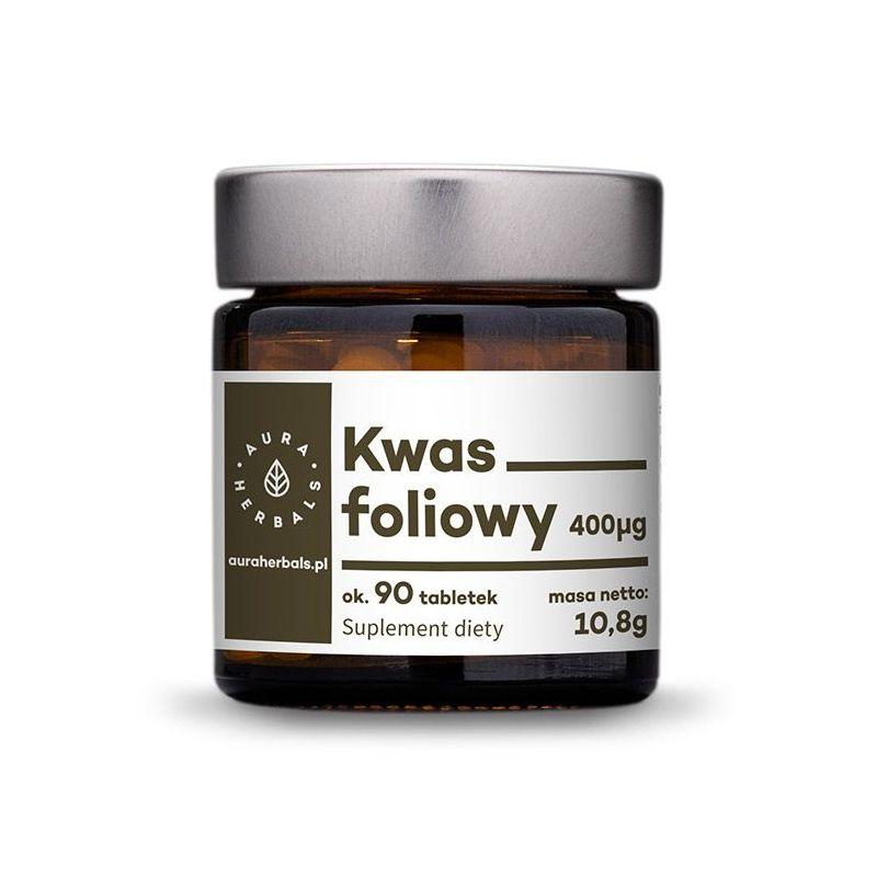 Kwas Foliowy 400 mcg (90 tabl.) Aura Herbals