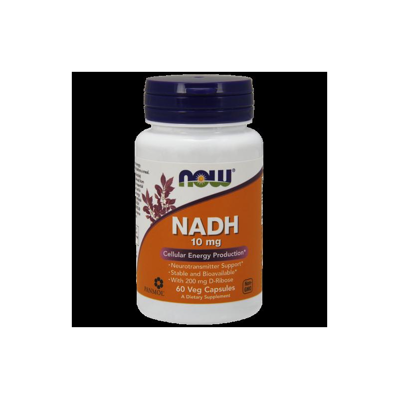 NADH (aktywator Kreatyny) 10 mg i D-Ryboza 200 mg (60 kaps.) NOW Foods