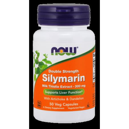 Silymarin - Sylimaryna z Ostropestu Plamistego + Dandelion Root (Mniszek) + Karczoch (50 kaps.) NOW Foods