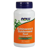 Echinacea & Goldenseal Root - Jeżówka Purpurowa i Gorzknik Kanadyjski (100 kaps.) NOW Foods
