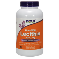 Lecytyna 1200 mg non GMO (200 kaps.) NOW Foods