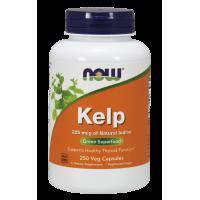Kelp (naturalny Jod) - Morszczyn Pęcherzykowaty (250 kaps.) NOW Foods
