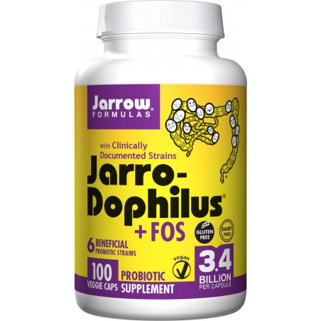 Probiotyk Jarro-Dophilus + FOS - 6 szczepów bakterii (100 kaps.) Jarrow Formulas