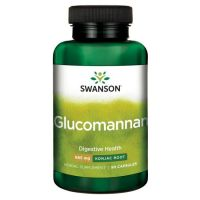 Glucomannan (Glukomannan) 665 mg - Konjac Root (90 kaps.) Swanson