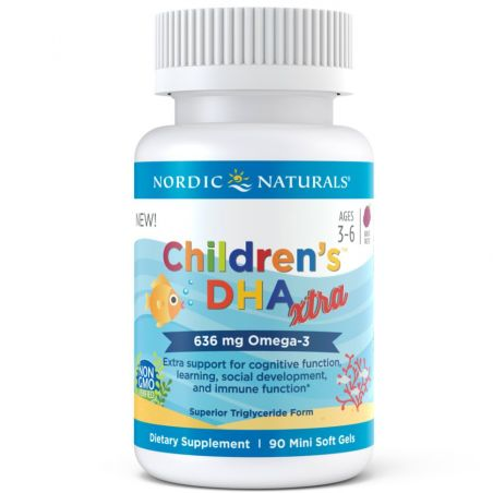 Childrens DHA Xtra 636 mg - DHA i EPA dla dzieci (90 kaps.) Nordic Naturals