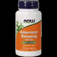 American Ginseng - Żeń-szeń Amerykański 500 mg (100 kaps.) NOW Foods