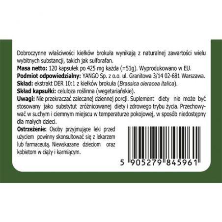 Kiełki Brokuła - ekstrakt 10:1 425 mg (120 kaps.) Yango