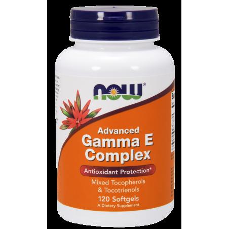Gamma E Complex - Witamina E mieszane Tokoferole i Tokotrienole (120 kaps.) NOW Foods