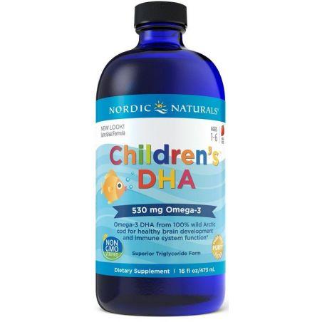 Childrens DHA - DHA i EPA dla dzieci o smaku truskawkowym (473 ml) Nordic Naturals