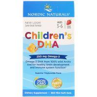 Childrens DHA 250 mg - DHA i EPA dla dzieci o smaku truskawkowym (360 kaps.) Nordic Naturals