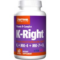 K-Right - Witamina K1 + Witamina K2 MK4 + Witamina K2 MK7 + Witamina D3 (60 kaps.) Jarrow Formulas