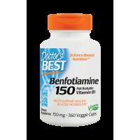 Benfotiamina BenfoPure 150 mg wit. B1 i L-Leucyna 12 mg (360 kaps.) Doctor's Best