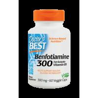 Benfotiamina BenfoPure 300 mg B1 i L-Leucyna 40 mg (60 kaps.) Doctor's Best