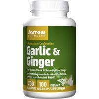 Garlic & Ginger - Czosnek 500 mg i Imbir 200 mg (100 kaps.) Jarrow Formulas