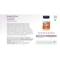 Koenzym Q10 60 mg (180 kaps.) NOW Foods